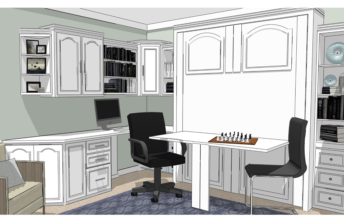 Your Ideal Home Office Starts With A Murphy Bed System Murphy Beds Of San Diego