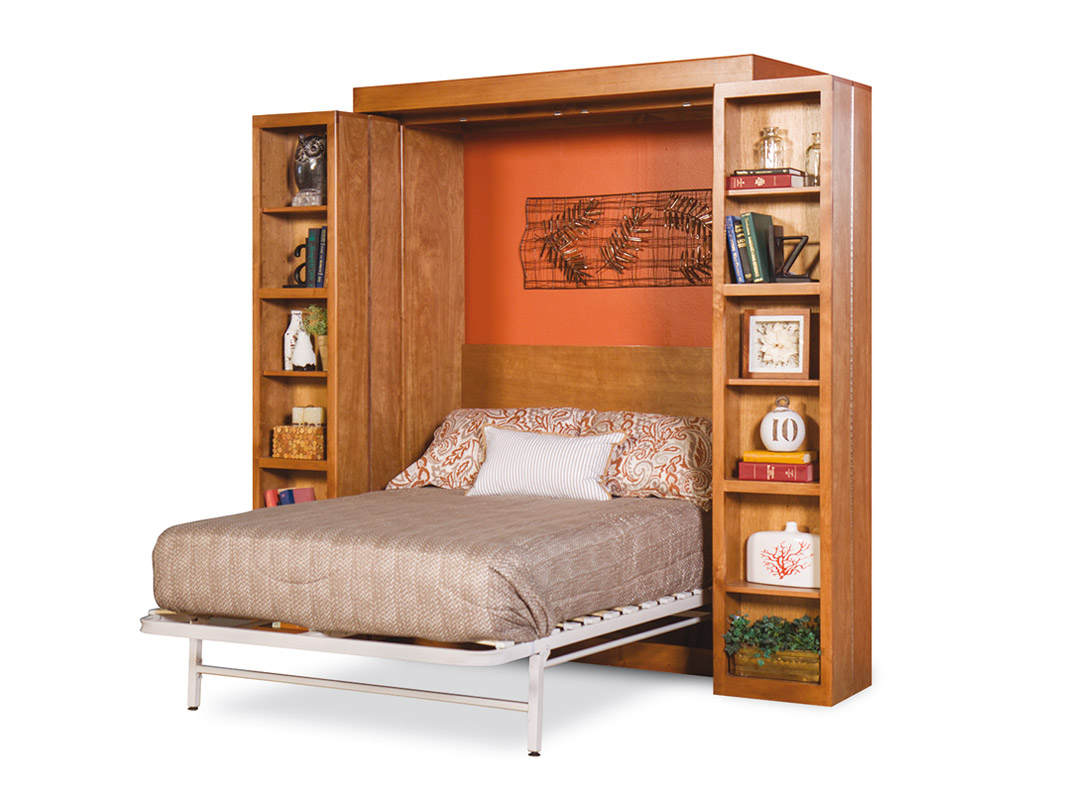 Library wall bed murphy beds of san diego for Murphy bed san diego ca