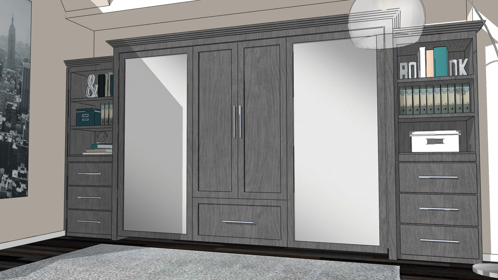 unique murphy bed | Unique Ideas for Tucking a Multi-functional Wall Bed Into ...