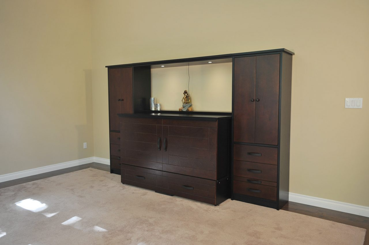 metro cabinet bed with wall unit