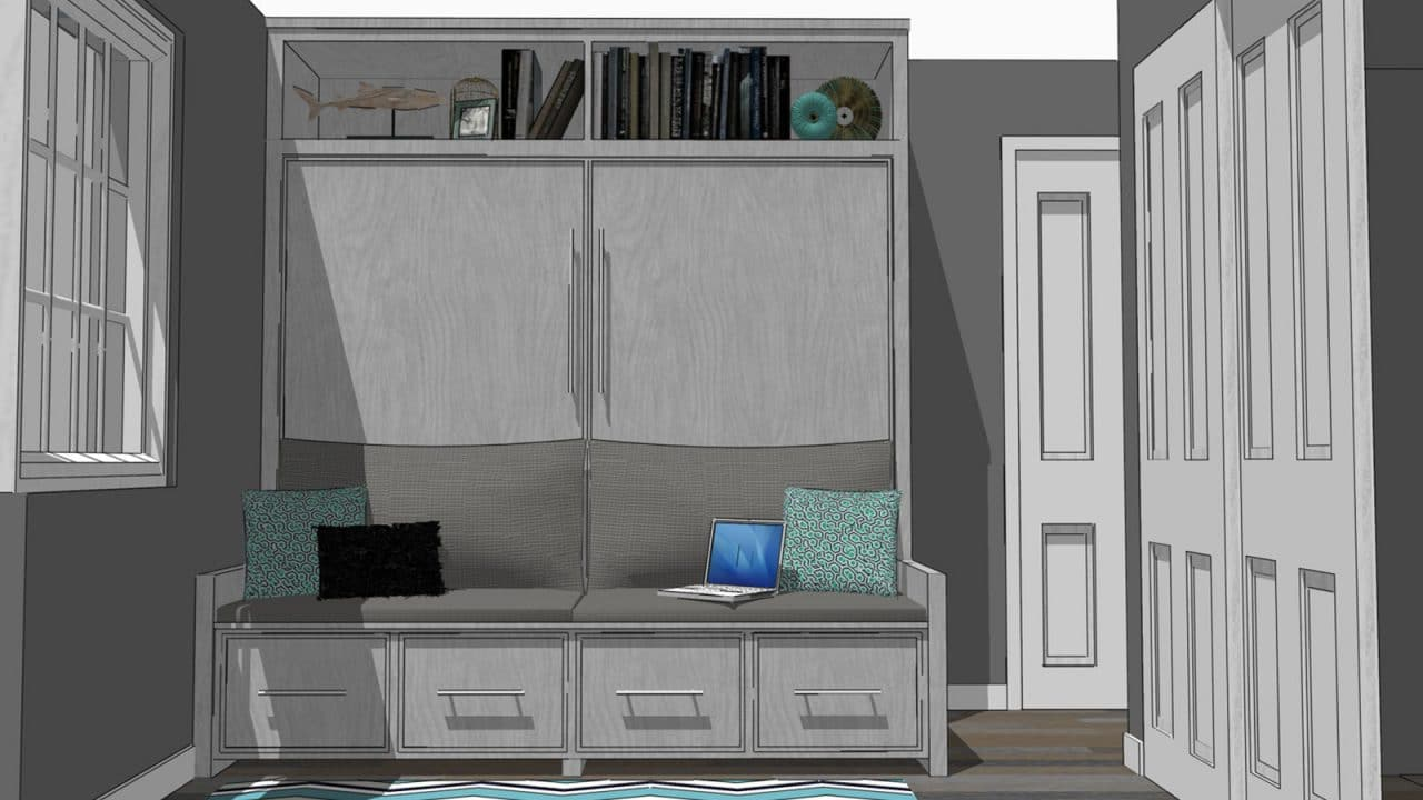 Encore wall bed with sofa