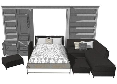 custom designed Murphy wall bed system