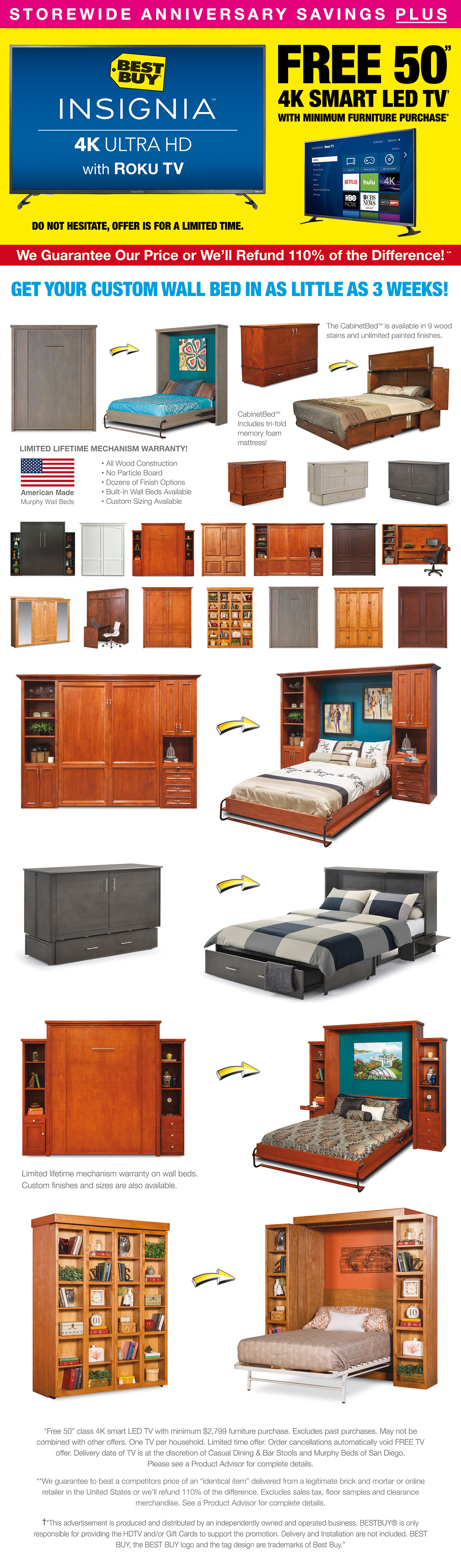 Anniversary Sale Storewide Savings 2018 Murphy Beds Of San Diego