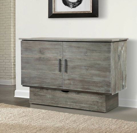 gray chest bed